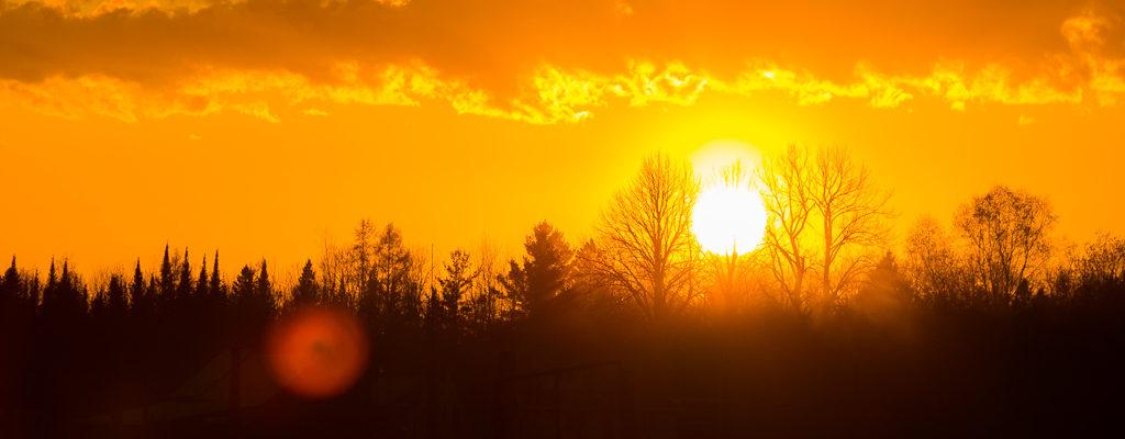 Sunset in Cheboygan Mi